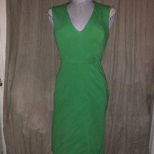 diane von furstenberg Christmas Green shift dress2